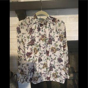 Ann Taylor Factory floral shirt XL